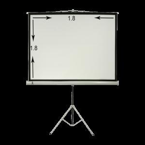 پرده نمایش پایه دار ۱۸۰ × ۱۸۰ سانتیمتر درجه ۱ سیترو