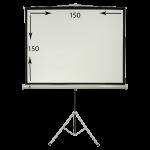 پرده نمایش پایه دار 150×150 سانتیمتر فایبرگلاس سیترو