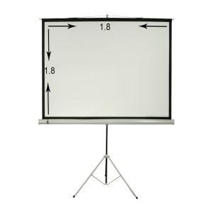 پرده نمایش پایه دار ۱۸۰ × ۱۸۰ سانتیمتر مت وایت سیترو