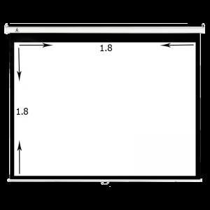 پرده نمایش سقفی آویز ۱۸۰ × ۱۸۰ سانتیمتر درجه ۱ سیترو