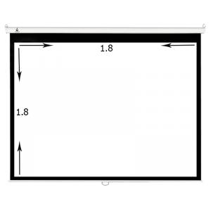 پرده نمایش برقی موتوردار ۱۸۰ × ۱۸۰ سانتیمتر درجه ۱ سیترو